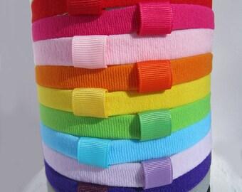 "Detachable Solid Color Headband // 1/2"" WIde Soft Stretchy Headband"