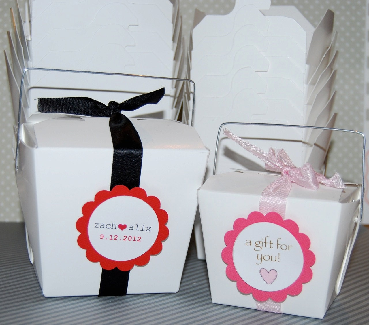 Chinese Take Out Favor Boxes Wedding: Large white chinese take out ...