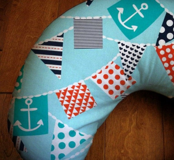 Nautical Bunting Flags Nursing Pillow Cover Changing By