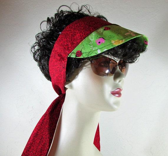 Knitting Ladybug Ladybird Headband : Items similar to in scarf visor headband lady bug