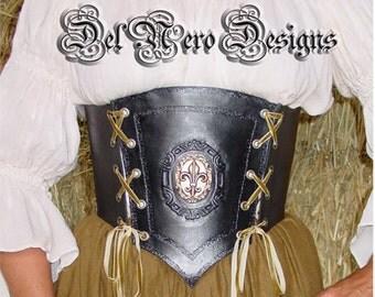 Medieval Black Leather Corslet