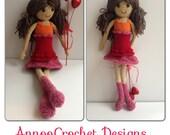 Emma Valentine Doll Pattern