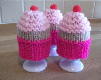 Egg Cosy - Cupcake style ~ Knitting Pattern