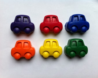 Set of 6 Eco-Friendly Soy/Bees Wax Car Crayons- Great First Crayon