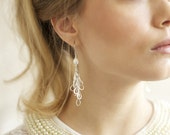 Bridal Wedding Earrings, Wedding Pearl Earrings