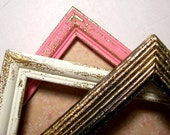 5x7 picture frame -- Made to order in your colors -- Featuring embossed edges -- elegant -- shabby chic
