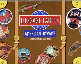 TRAVEL STICKERS, Luggage Stickers, Luggage Labels, Vintage Travel Stickers, Vintage Luggage Labels, American Roads Stickers, American Byways