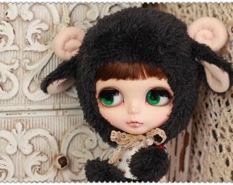 BLACK Sheep hat For Blythe