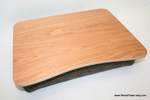 Wooden Laptop Bed Tray iPad Table Breakfast Tray Pillow