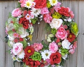RESERVED for LAUREN BRAY- Shipping label for Strawberry Shortcake Summer Garden Wreath
