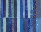 Quilt Fabric Charm Squares Blue Charm Pack
