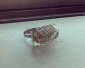 Polished Phantom Quartz Ring