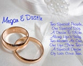 Two Special People One Special Day... Wedding Card... EMAIL SERVICE