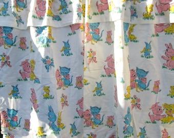 Vintage Children's Curtains