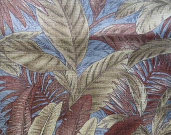 Outdoor Pillow Cover / Indoor Pillow Cover Brown / Blue and Green Floral Print