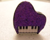 PURPLE GLITTERED PIANO RiNG by Juste Jolie Inspired by Alicia Keys, Robin Thicke and StevIe Wonder