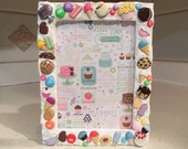 SUGAR RUSH FROSTED Cake & Ice Cream Themed Picture Frame by Juste Jolie 5x7 White Picture Frame