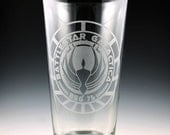 Battlestar Galactica Logo Pint Glass