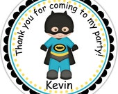 Batman Super heros - Personalized Stickers, Party Favor Tags, Thank You Tags, Gift Tags, Address labels, Birthday, Baby Shower
