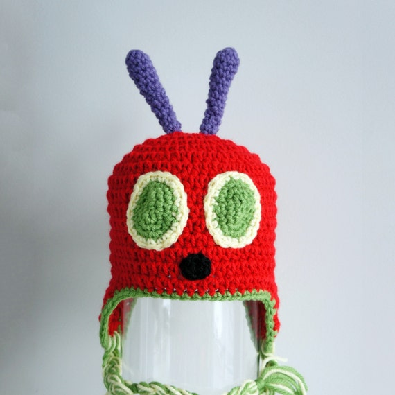 Very Hungry Caterpillar Hat Crochet Baby Hat by ...
