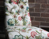RESERVED FOR JANE: victorian nursing chair and Magda lounge chair
