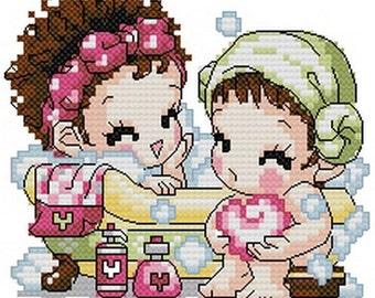 PDF file counted aida cross stitch  pattern baby pattern KC001