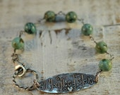 All You Need Is Love - All You Need Is Love Oxidized Sterling Silver Bracelet with Turquoise
