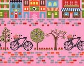 """Timeless Treasures """"Hoodie"""" L'Amour De La Vie in Pink 1 Yard Cut"""