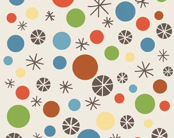 "On Sale! Riley Blake Designs ""Scoot"" by Deena Rutter Dots in Cream 1 Yard Cut"