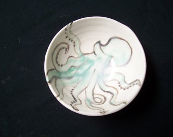 little green octopus bowl