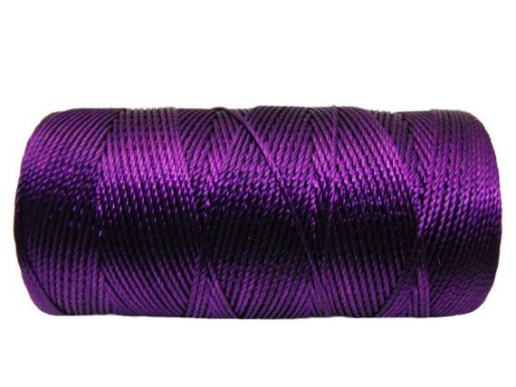 Nylon Cord Amethyst (not waxed) 1mm - 50 feet (15.24 meters)