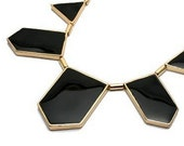 Geometric Statement Necklace // House of Harlow Inspired