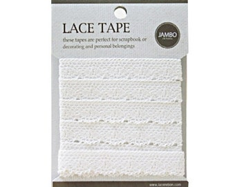Adhesive deco fabric cotton lace tape M 02 - beige by J&Bobbin