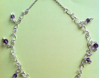 """The """"Violet"""" Necklace & Earrings"""
