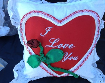 Valentines Day I Love You Pillow