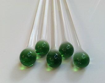 Swizzle Sticks, Green Swizzle Stirs, Green Swizzle Sticks, Custom Swizzle Sticks, Mixing Utencil