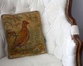 Antique Small Bird Pillow