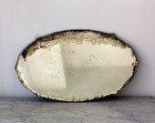Beautiful Antique Oval Scalloped Mirror Tray