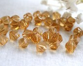8mm Light Topaz Helix Crystal Beads