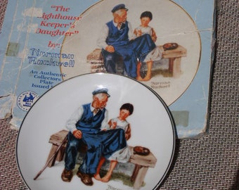 Norman Rockwell The Lighthouse Keeper's Daughter China Plate with Origiinal Box