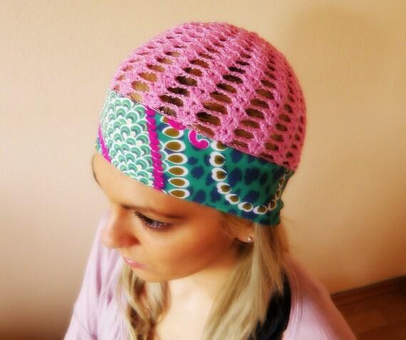 Summer Beanie Hat Crochet Pattern : Women HATS SUMMER women crochet cloche beanie fabric hat ...