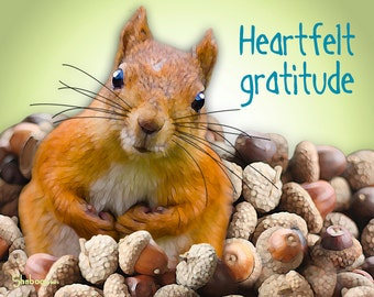 Unique Thank You Greeting Card: Pile Of Gratitude