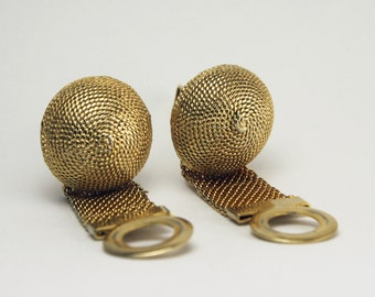Vintage 50's Wrap Style Gold Dome Cufflinks