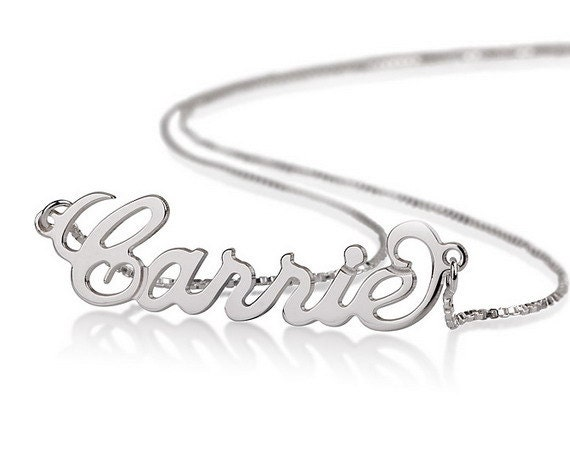 RESERVED Personalized Name Necklace 925 Sterling Silver