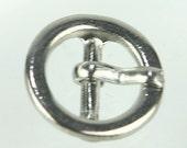D-040 / 10 pcs Small metal belt Buckle / Color : Silver