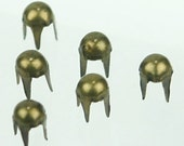 C-058 / Metal round  Studs /  100 pcs (Come with box) /  3.5 mm. / Color - Metal  Antique Brass