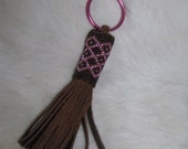 Keychain Pink and Brown