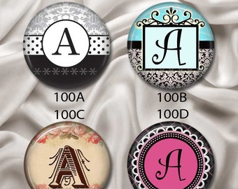 """Initial, Letter """"A"""" - Pretty and Sophisticated, Interchangeable Magnetic Design Inserts - FIT Clique and Magnabilities 1"""" Jewelry...100"""