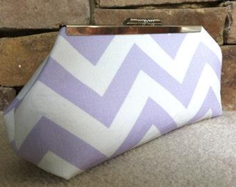Lavender Chevron Clutch