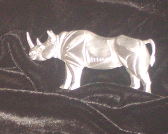 Pewter Rhino Brooch/Pin